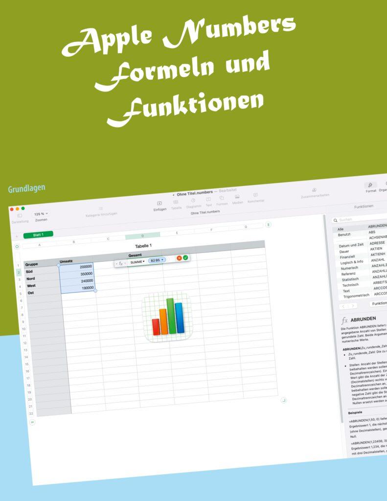 Buch Apple Numbers Formeln- und Funktionen Grundlagen