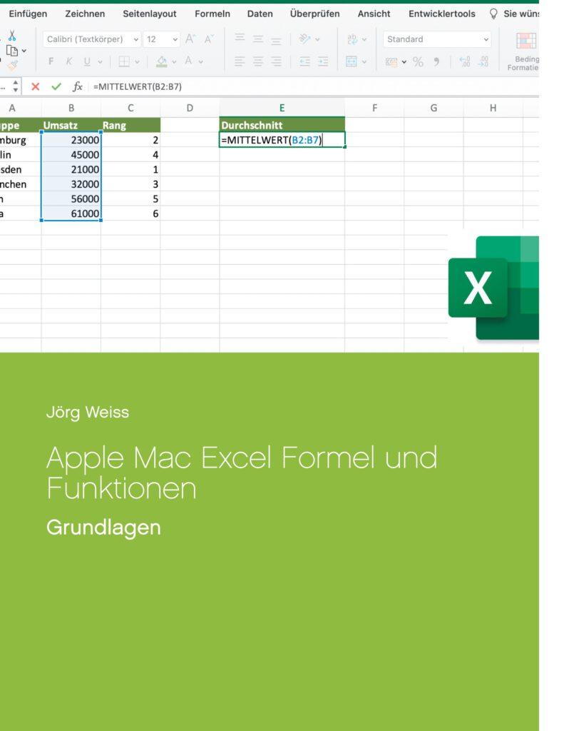 Buch Apple Mac Excel Formel und Funktionen Grundlagen