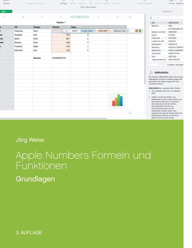 Apple Mac Numbers Formeln Funktionen Grundlagen