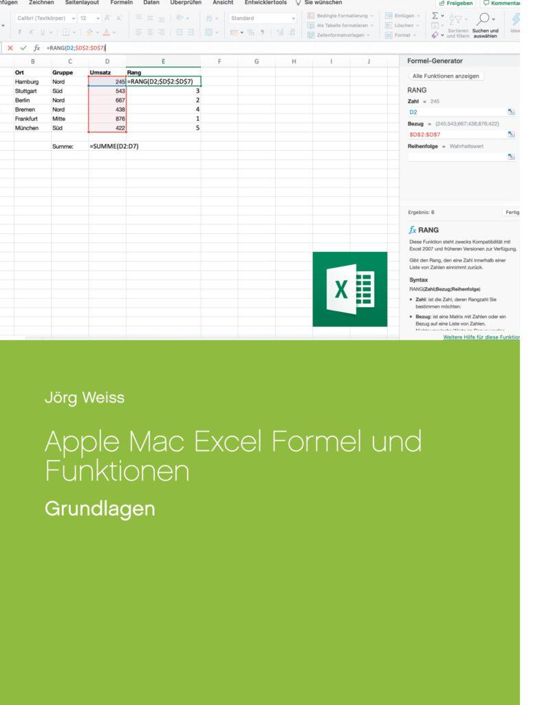 Apple Mac Office Excel Formeln Funktionen Grundlagen